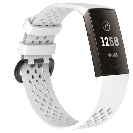Fitbit Charge 3 & 4 sport bandje (large) - Wit