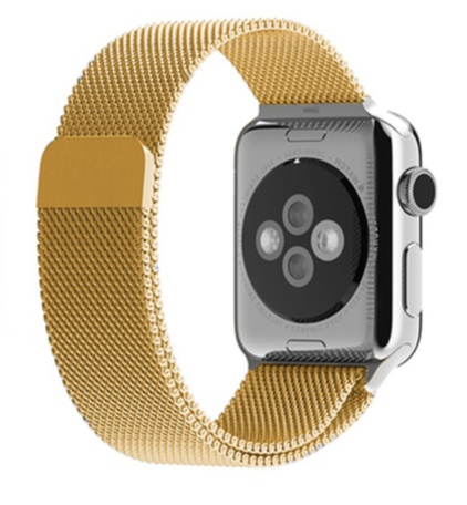 Milanees Apple watch 38mm / 40mm bandje RVS - Goud