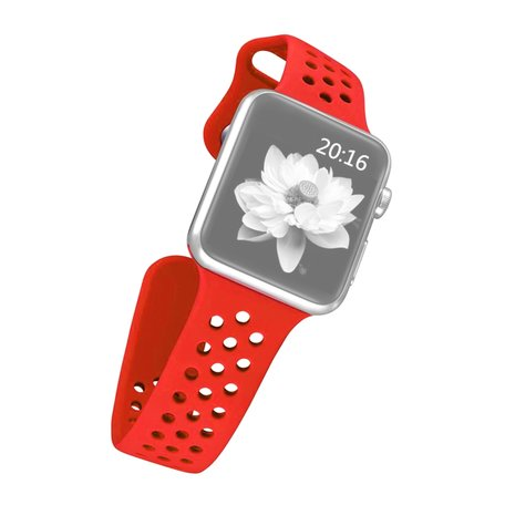 Apple watch holow edition sport band 38mm / 40mm - Rood