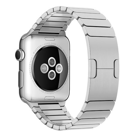 Schakelarmband Apple watch 42mm / 44mm stainless steel bandje - Zilver