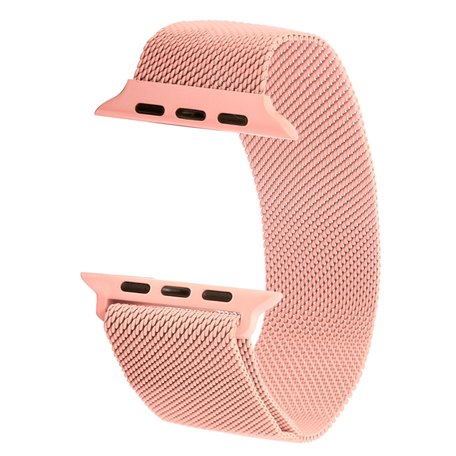 Milanees Apple watch bandje 38mm / 40mm RVS - Roze