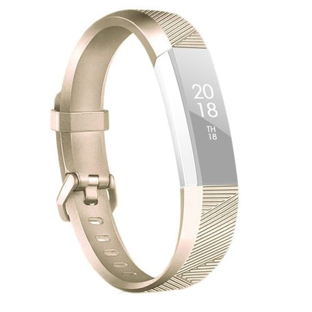 Fitbit Alta Siliconen Bandje (Large) - Champagne Goud