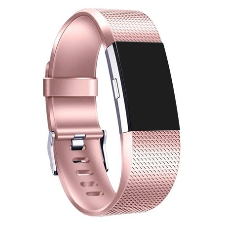Fitbit Charge 2 sportbandje (Large) - Rose Goud