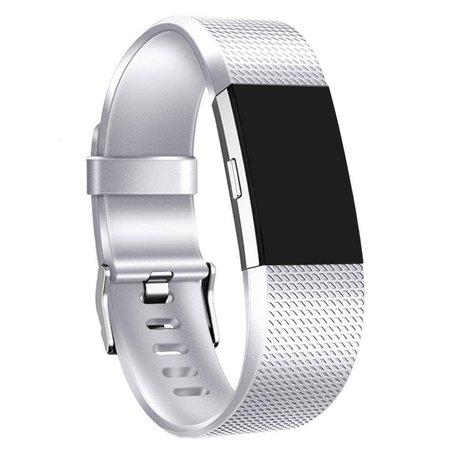 Fitbit Charge 2 sportbandje (Large) - Zilver
