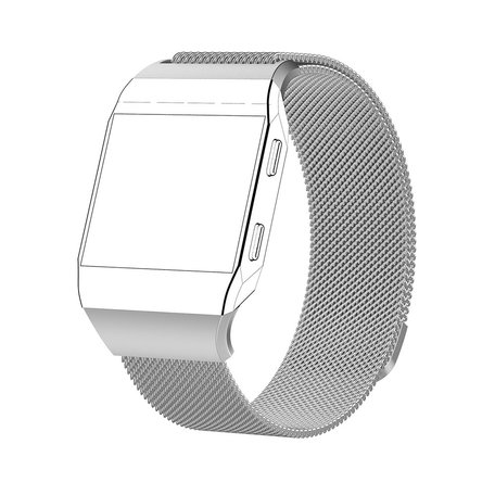 Fitbit Ionic Milanese Bandje (Large) - Zilver