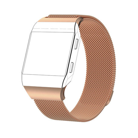 Fitbit Ionic Milanese Bandje (Large) - Champagne Goud