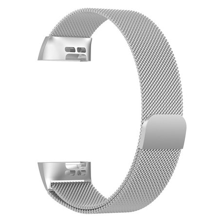 Fitbit Charge 3 & 4 milanese bandje (small) - Zilver