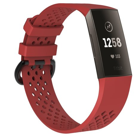 Fitbit Charge 3 & 4 sport bandje (large) - Rood