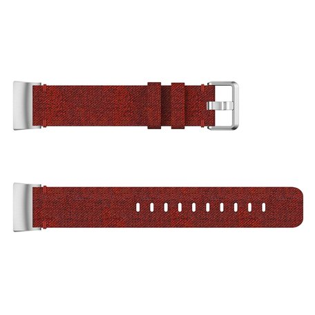 Fitbit Charge 3 & 4 nylon bandje - Donker rood