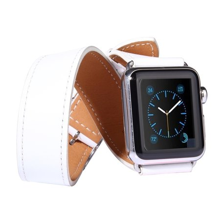 Apple watch 42mm / 44mm double strap - Wit