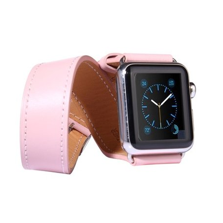 Apple watch 42mm / 44mm double strap - Roze
