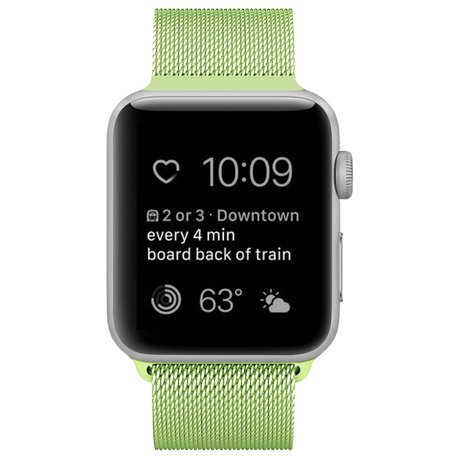 Milanees Apple watch bandje 42mm / 44mm RVS - Groen