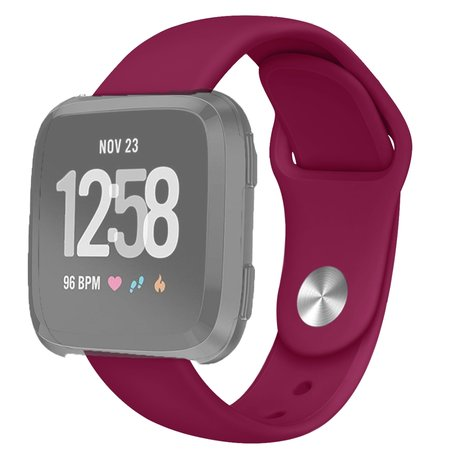 Fitbit Versa siliconen bandje (large) - Wijnrood