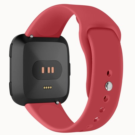 Fitbit Versa siliconen bandje (large) - Rood