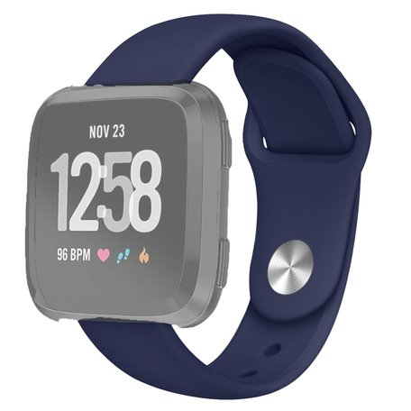 Fitbit Versa siliconen bandje (small) - Donkerblauw