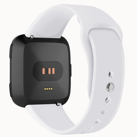 Fitbit Versa siliconen bandje (small) - Wit