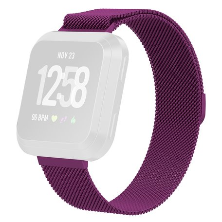 Fitbit Versa milanese bandje (Small) - Paars