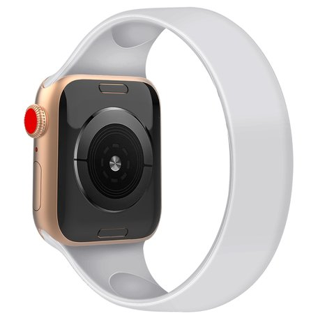 Apple Watch 38/40mm - Maat: S - Solo Loop link series - wit