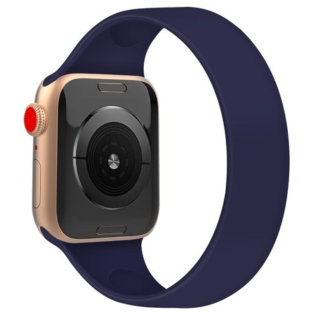 Apple Watch 42/44mm - Maat: M - Solo Loop link series - saffierblauw