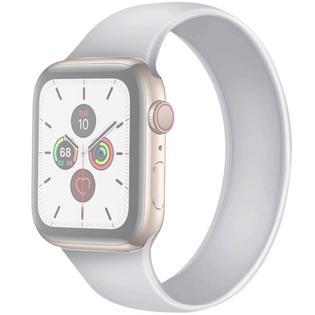 Apple Watch 42/44mm - Maat: M - Solo Loop link series - wit