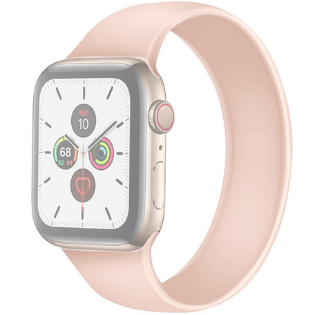 Apple Watch 42/44mm - Maat: L - Solo Loop link series - roze