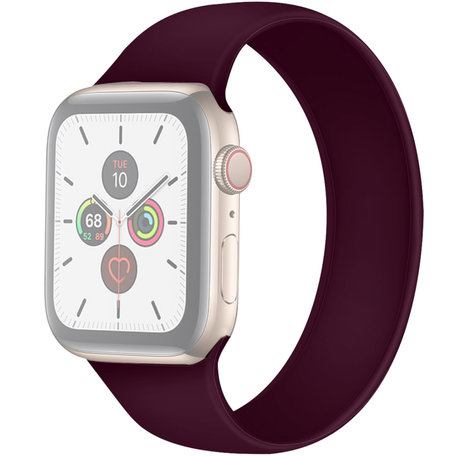 Apple Watch 42/44mm - Maat: S - Solo Loop link series - paars