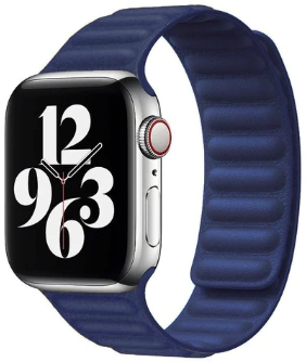 Apple Watch 42/44mm - Leather link series - blauw