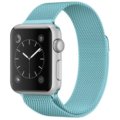 Milanees Apple watch bandje 42mm / 44mm RVS - Lichtblauw