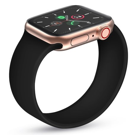 Apple Watch 42/44mm - Maat: S - Solo Loop link series - zwart