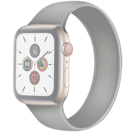 Apple Watch 42/44mm - Maat: M - Solo Loop link series - grijs