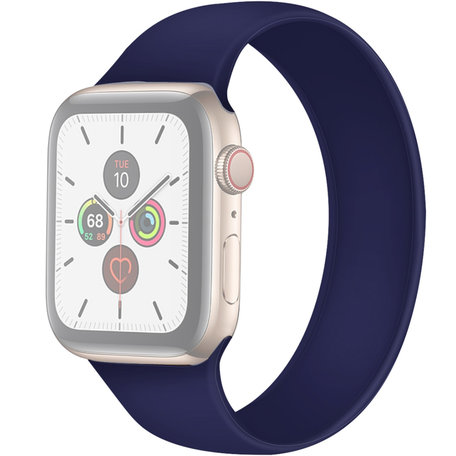 Apple Watch 42/44mm - Maat: L - Solo Loop link series - saffierblauw