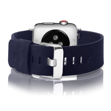 Apple Watch 42/44mm Canvas bandje - Donkerblauw