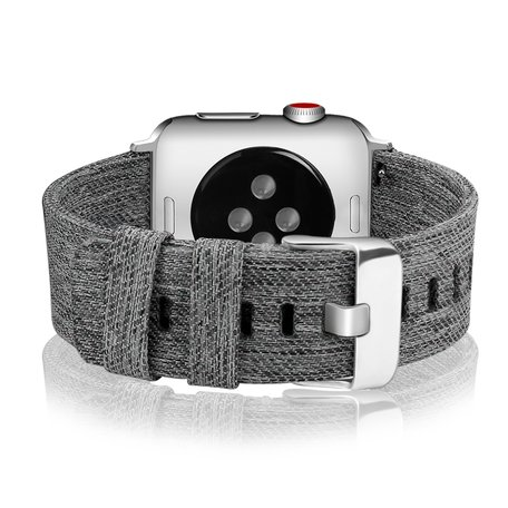 Apple Watch 42/44mm Canvas bandje - Grijs