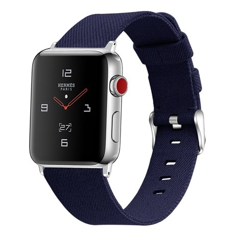 Apple Watch 38/40mm Canvas bandje - Donkerblauw
