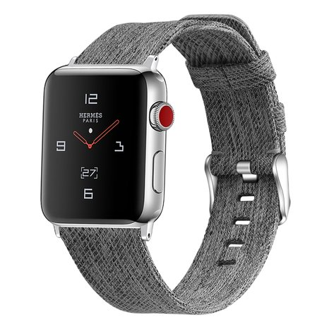 Apple Watch 38/40mm Canvas bandje - Grijs
