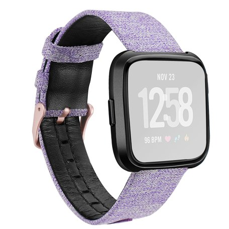 Fitbit Versa Canvas Denim - Paars