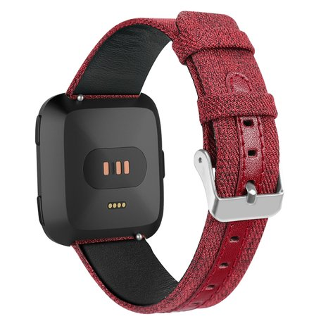 Fitbit Versa Canvas Denim - Rood