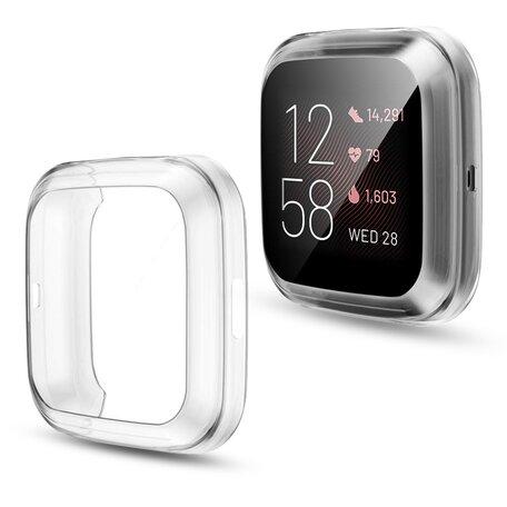 Fitbit Versa 2 Soft TPU case (volledig beschermd) - Transparant