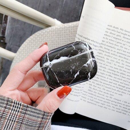AirPods Pro hoesje Marble series - hard case - Marble zwart - Schokbestendig