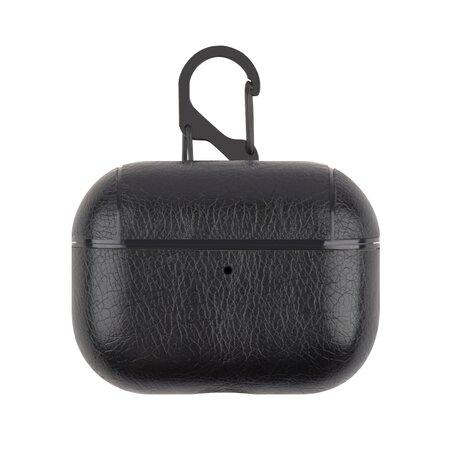 AirPods Pro lederen hoesje Pro Leather series - Met bevestigingsclip - Zwart