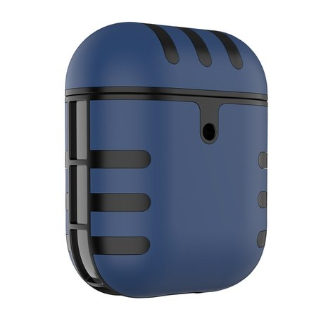 AirPods 1/2 hoesje siliconen + hard plastic Cat series - blauw