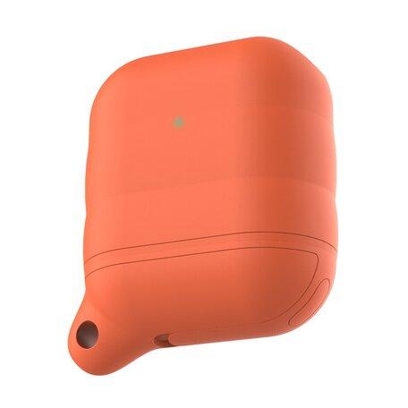 AirPods 1/2 hoesje siliconen waterproof series - soft case - oranje