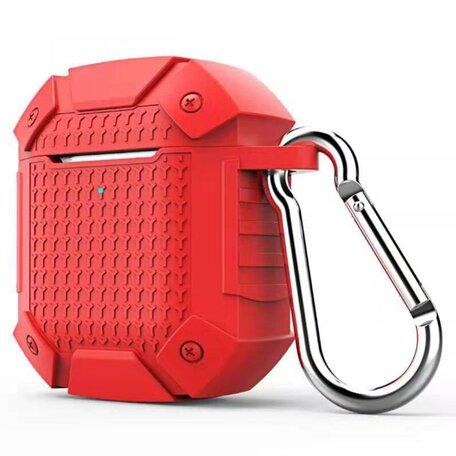 AirPods 1/2 hoesje schokbestendige harnas - soft case - rood