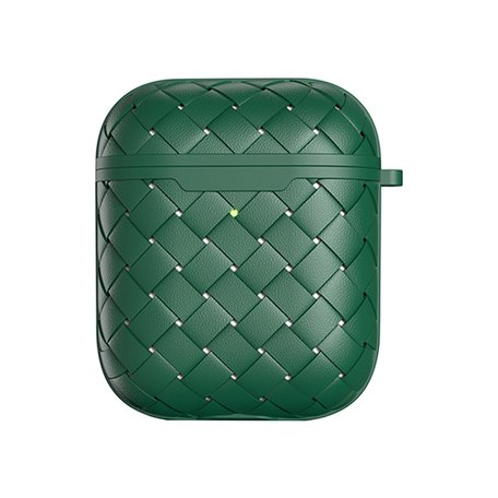 AirPods 1/2 hoesje PU Wave Series - soft case - groen