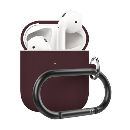AirPods 1/2 hoesje siliconen chargebox Series - soft case - bordeaux - UV bescherming