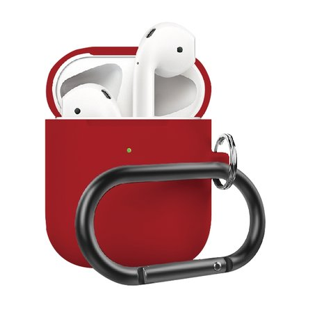 AirPods 1/2 hoesje siliconen chargebox Series - soft case - rood - UV bescherming