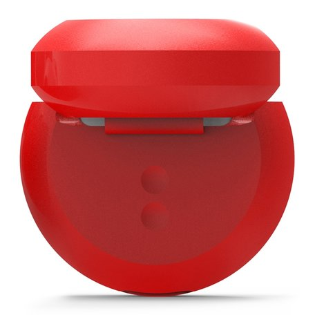 AirPods 1/2 hoesje siliconen shockprotect series - rood