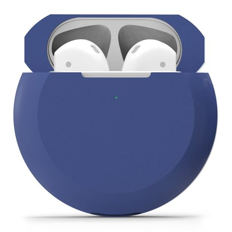 AirPods 1/2 hoesje siliconen shockprotect series - blauw