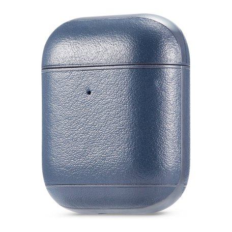 AirPods 1/2 hoesje Genuine Leather Series - hard case - blauw