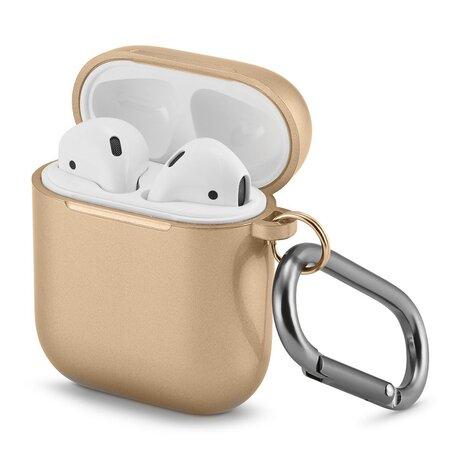 AirPods 1/2 hoesje Metallic Series - soft case - goud - UV bescherming
